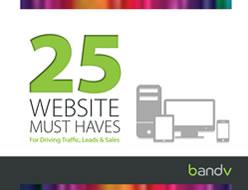 25 Website Must Haves - eBook Download - bandv AdWords consultants