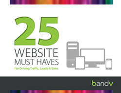 25 Website Must Haves - eBook Download - bandv AdWords consultants