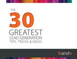 30 Lead Generation Tips - eBook Download - bandv digital marketing specialists