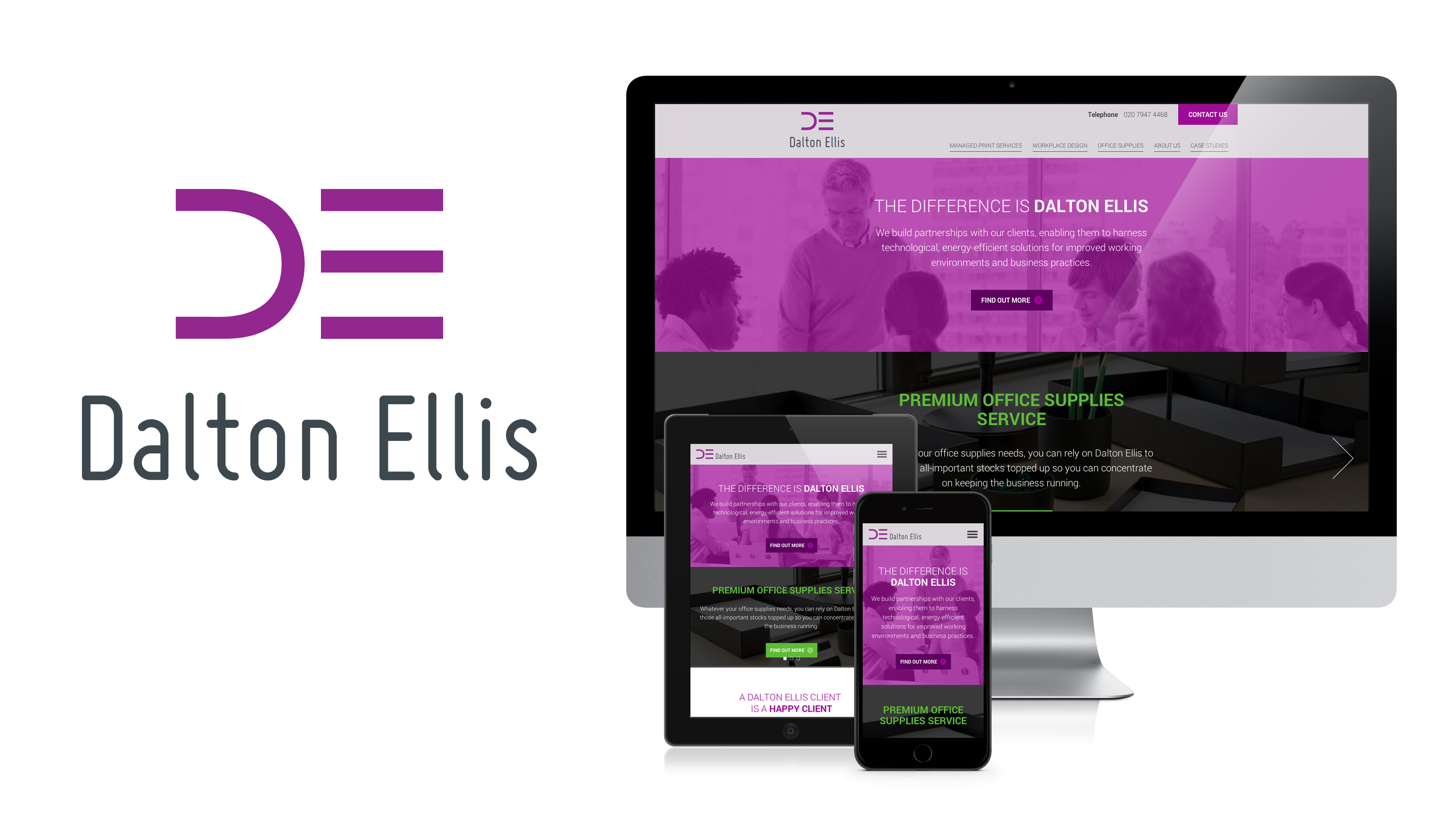 Dalton Ellis New Identity - bandv corporate branding