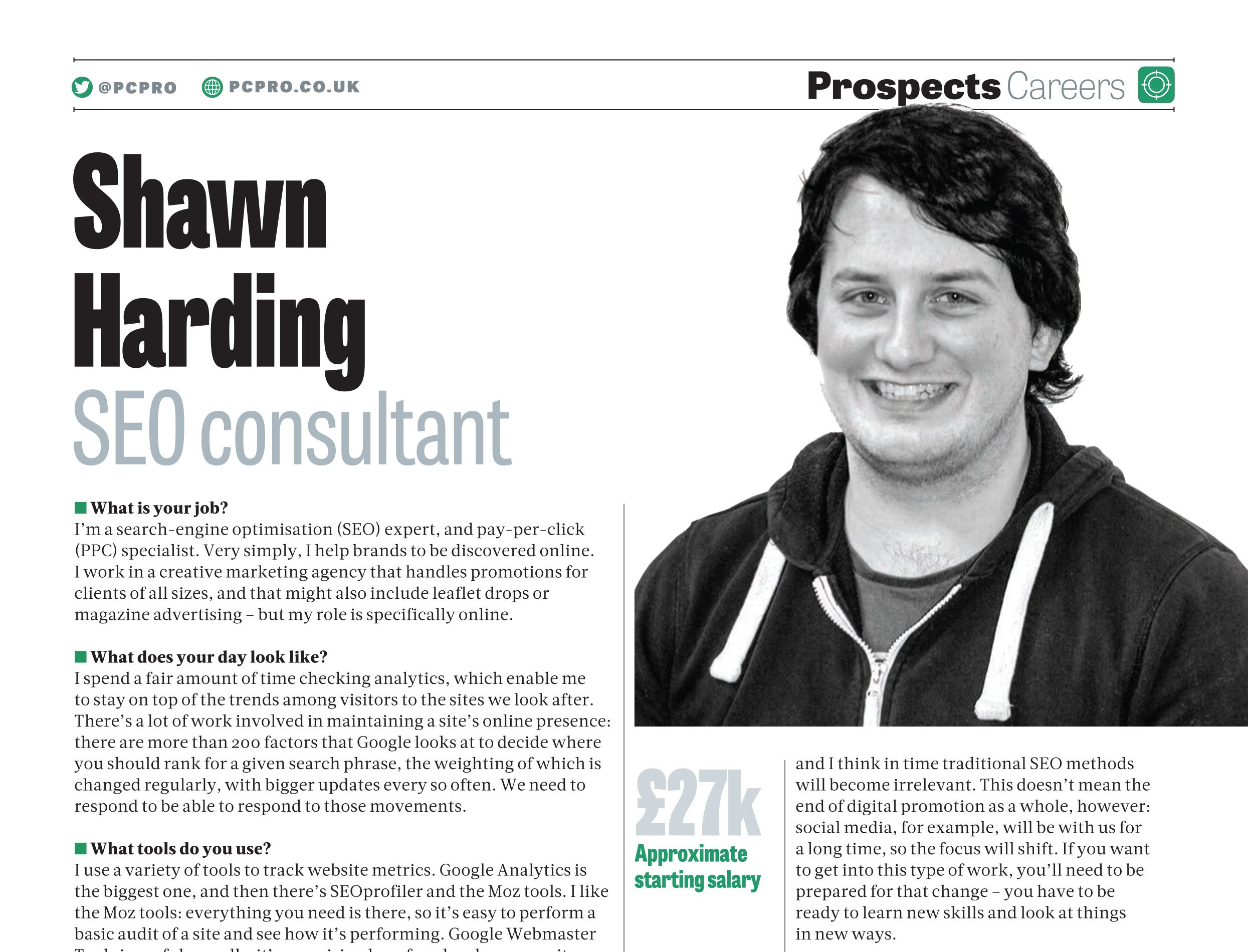 Shawn Harding Digital Marketer • PC Pro April 2015
