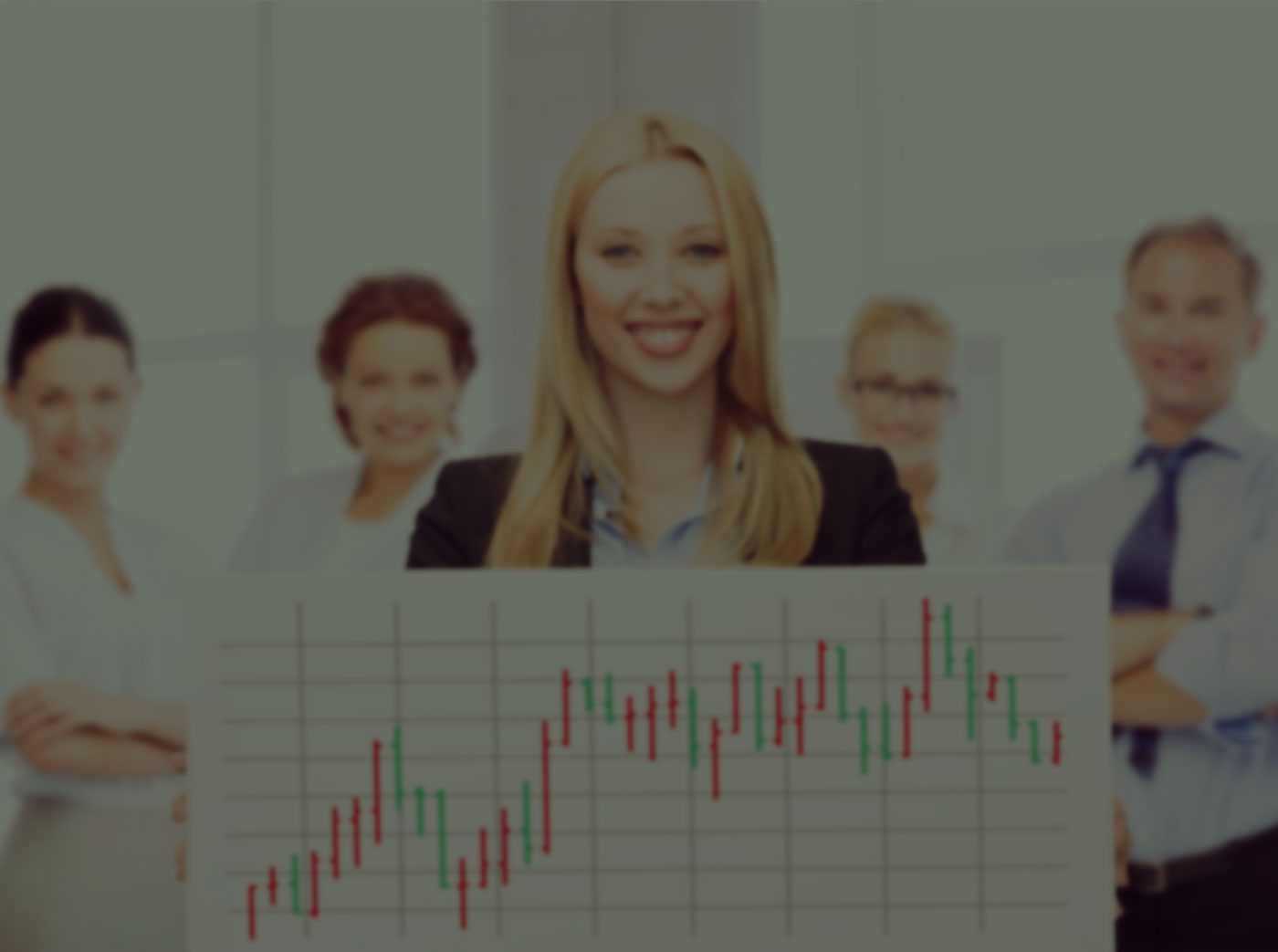 Woman holding a graph - bandv Hampshire inbound marketing agency