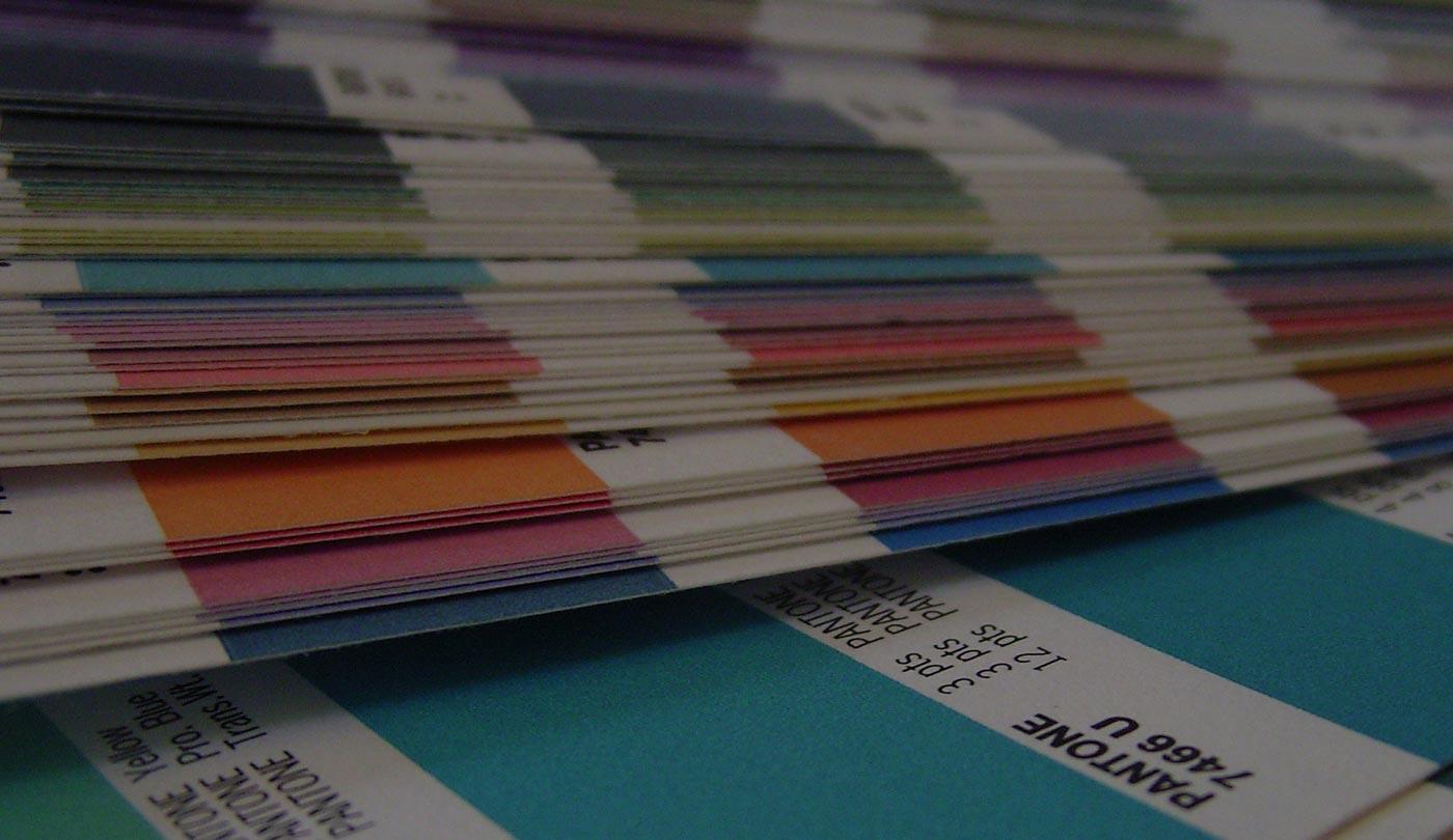 Pantone colour chart - bandv graphic design agency